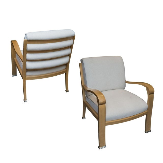 J robert scott deco lounge chairs a pair chairish - Deco lounge eetkamer modern ...