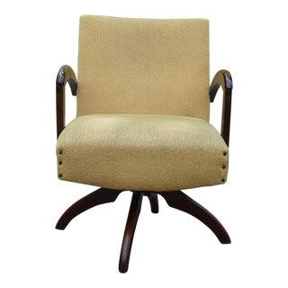 Mid-Century Gold Swivel Chair