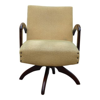 Mid-Century Gold Swivel Chair