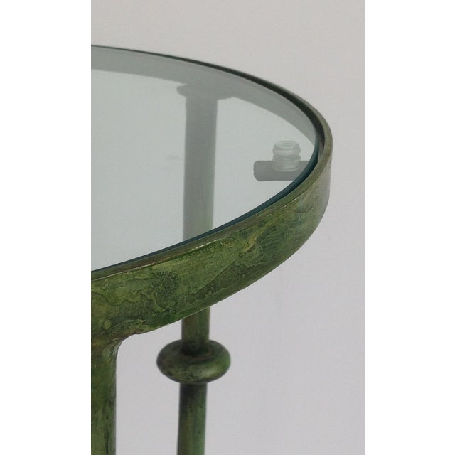 Giacometti-Style Forged Round End Table - Image 9 of 11