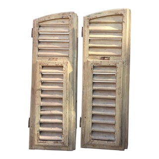 French Riviera Antique Shutters - A Pair