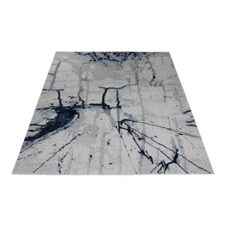 """Brush Stroke Blue Abstract Rug - 5'3"""" x 7'7"""""""