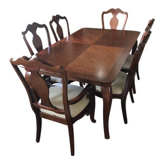 Thomasville Dining Table & Chairs W/ Leaves
