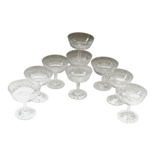 Waterford Crystal Lismore Champagne/Sherbet Glasses - Set of 9