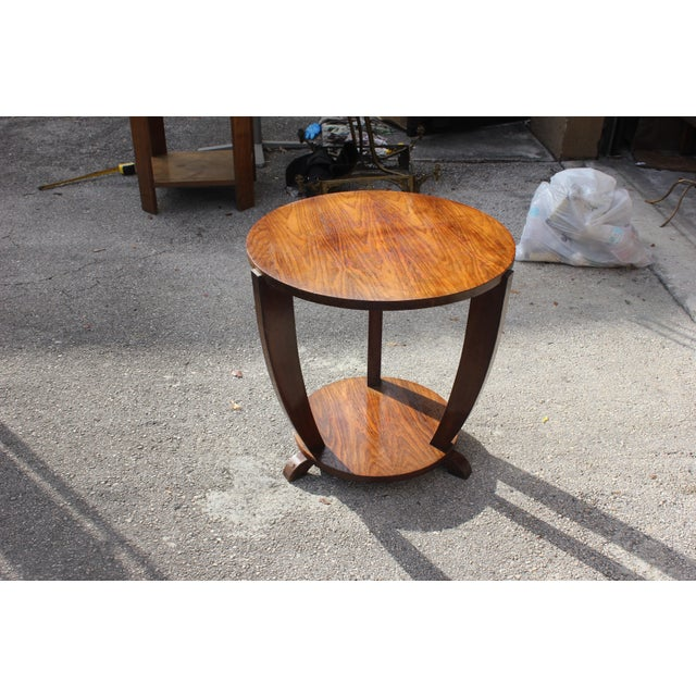 Beautiful French Art Deco Coffee Table or Side Table Exotic Walnut, circa 1940s - Image 10 of 10