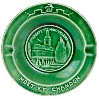 Vintage French Moet Et Chandon Majolica Ashtray