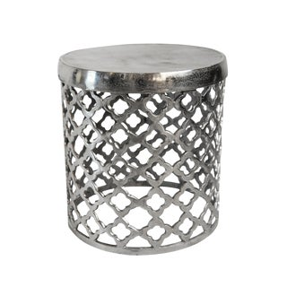 Moorish Nickel Side Table/Stool