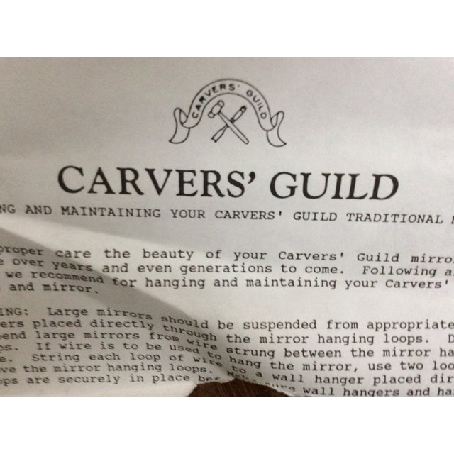 Carvers Guild White Pearl and Gold Mirror - Image 9 of 9