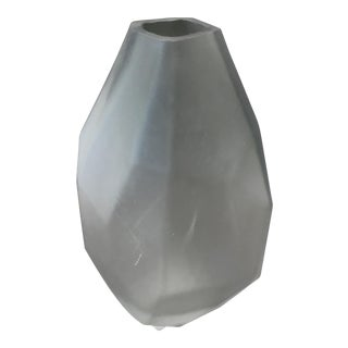 Glass Milky Geometric Vase