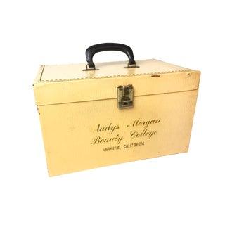 Vintage Gladys Morgan Mid Century Cream Vinyl Box