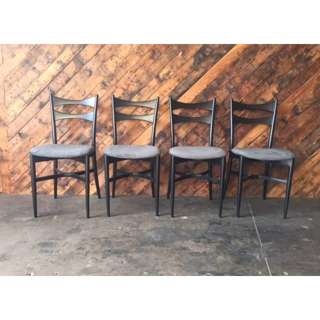 Mid-Century Gio Ponti Style Ladder Back Chairs - Set of 4 - Image 2 of 6