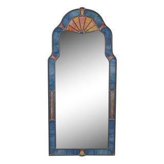 Carvers Guild Sweet Queen Anne Stained Glass Frame Wall Mirror