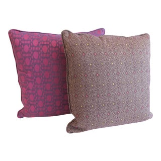 Custom Purple Pattern Pillows- a Pair
