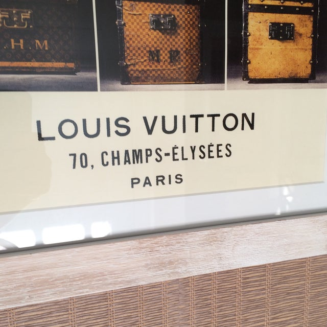 Louis Vuitton Framed Luggage Print from Paris - Image 5 of 7