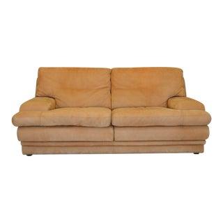 Roche Bobois Vintage Leather Nubuck Love Seat