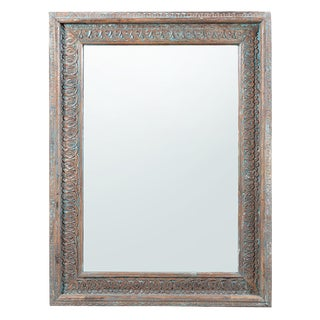 Carved Teak Frame Mirror