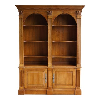 Ethan Allen Legacy Double Arch Library Bookcase Cabinet