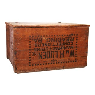 Vintage Industrial Reading Pennsylvania Wood Shipping Crate
