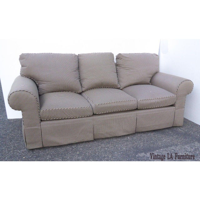 Glabman Furniture Plaid 3 Seater Sofa - Image 6 of 11
