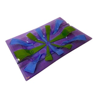 Higgins Purple Glass Ashtray