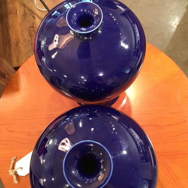 Image of Cobalt Blue Vases - A Pair