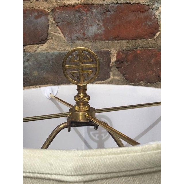 Vintage Chinoiserie Hand-Painted Accent Lamp - Image 6 of 6