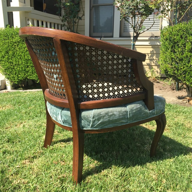 Mid-Century Cane Barrel Chair - Image 4 of 11