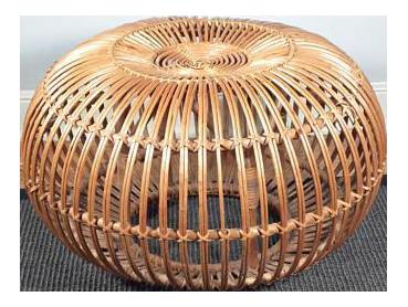 franco albini vintage rattan ottoman