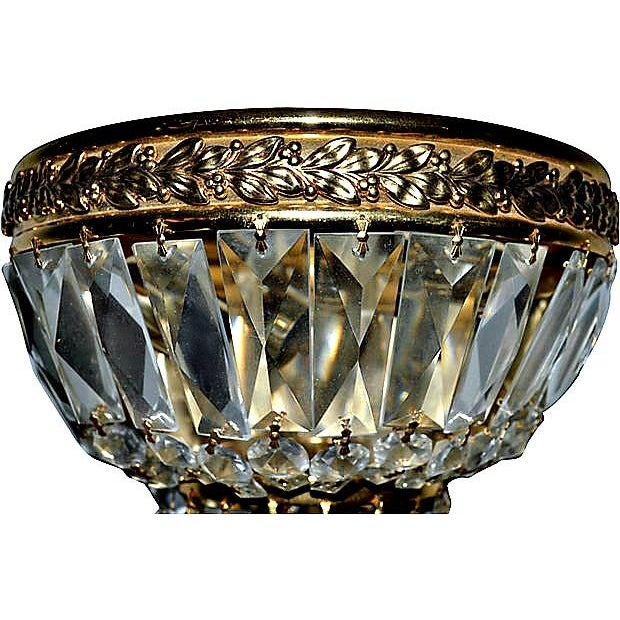 Single Rock Crystal Brass Sconce Chairish