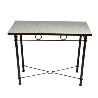 Mosaic & Iron Console Table