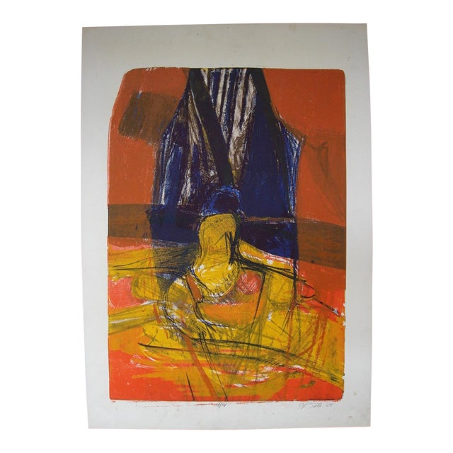 Howard Foote, 1959 San Francisco Abstract Expressionist Print - Image 1 of 4