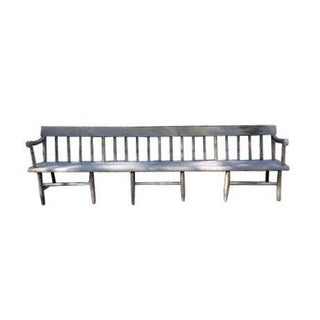 Antique Long Deacon's Farm Bench