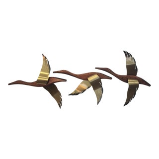Mid-Century Masketeer Flying Ducks - Set of 3