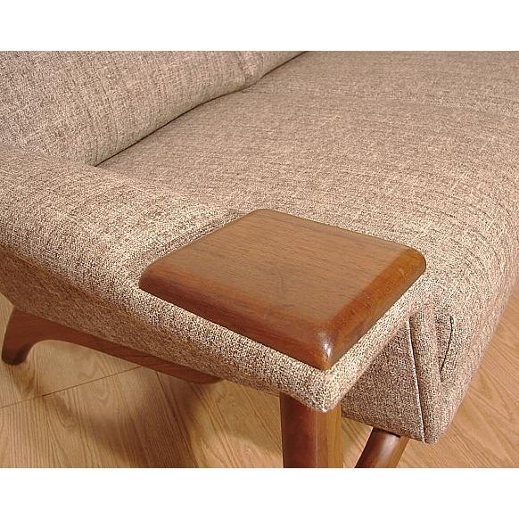 1960s Adrian Pearsall Craft Associates Mid-Century Danish Modern Sofa - Image 6 of 9