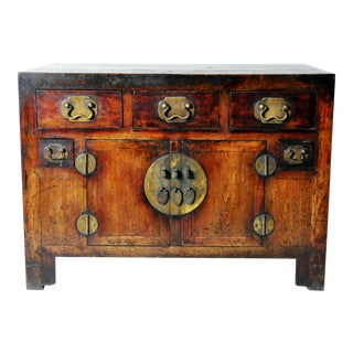 Chinese Square Corner Five-Drawer Coffer
