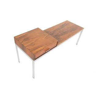 Danish Modern Rosewood & Chrome Entry Bench
