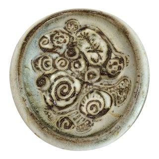 1970s Stoneware Sculptural Dish