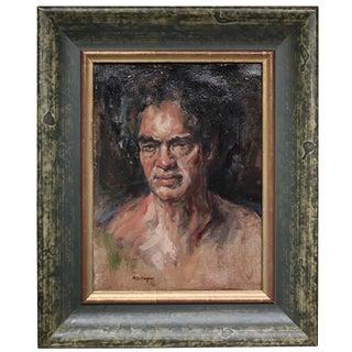 Mid-Century Oil Portrait by A. Gillespie