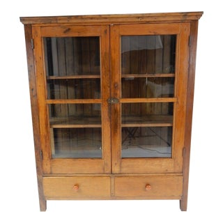 Antique Oak & Pine Book Case, 1810