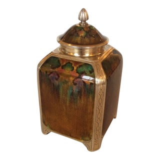 Exceptional Tea Caddy by David Andersen, Very Rare