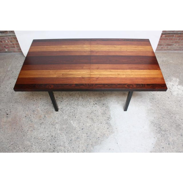 Milo Baughman Mixed Wood Dining Table For Directional - Image 6 of 11