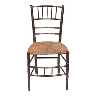 Antique French Faux-Bamboo Chair