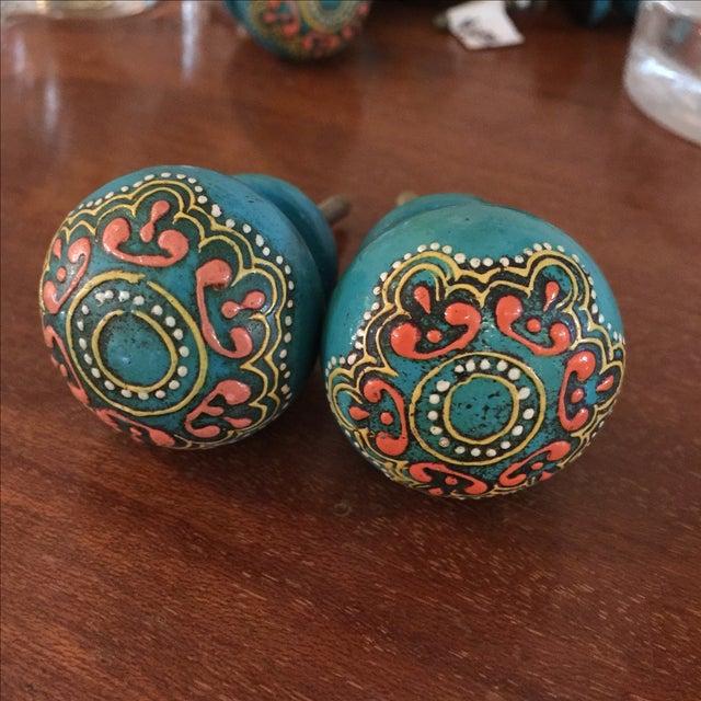 Bohemian Turquoise Drawer Pulls - Set of 8 - Image 2 of 5