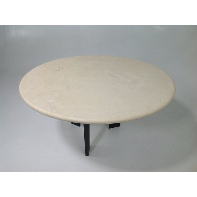Round Cream Travertine Table Top - Image 2 of 3