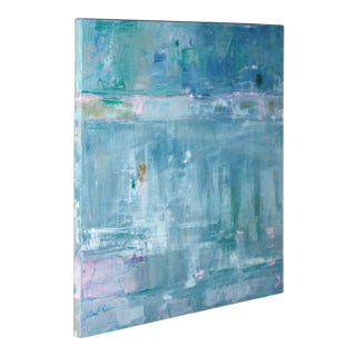 """Paul Ashby """"Watery Reflections"""" Original Abstract Oil Painting"""