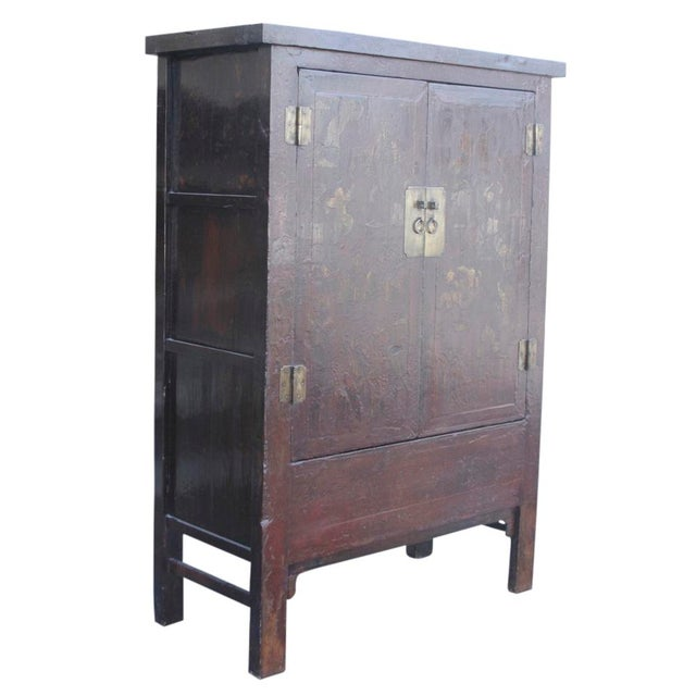 Red & Gilt Chinoserie Armoire - Image 4 of 7