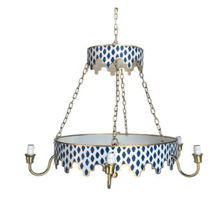 Navy Parsi Metal Chandelier