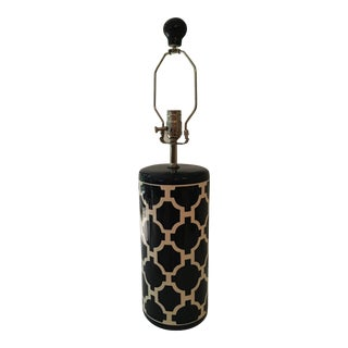 Jill Rosenwald Hampton Links Navy Cylinder Lamp