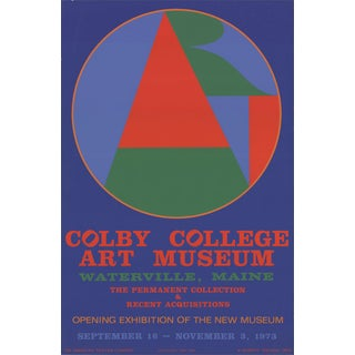 "Robert Indiana ""Colby College Art Musuem"" 1973 Serigraph"
