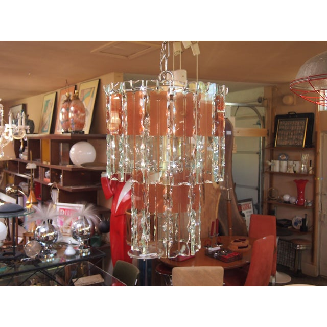 Italian Mid-Century Coral & Crystal Chandelier - Image 2 of 6